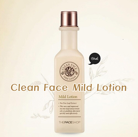 The Face Shop Clean Face Mild Lotion 130ml (FSS-04L)