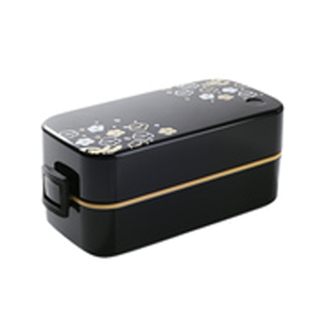 Japanese Sakura Two-layer Plastic Microwave Lunch Box Set (Cutlery set + Soup Bowl + Bag) (FUDOGIKEN-B3)
