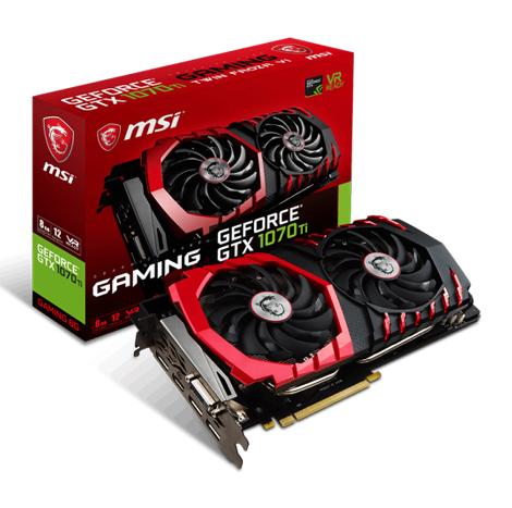 MSI NVIDIA® GeForce® GTX 1070 TI Gaming 8GB Graphic Card