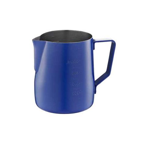 TIAMO Milk Pitcher W/SCALE-BLUE 600CC