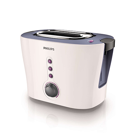 PHILIPS Viva Collection 2 Slor Metal Toaster (HD-2630)