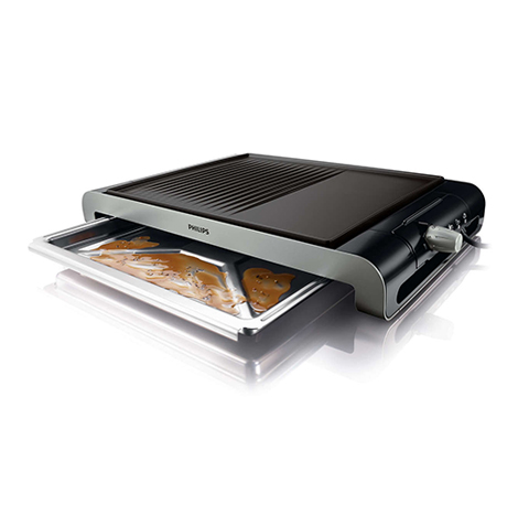 PHILIPS Table Grill Metal (HD-4419)
