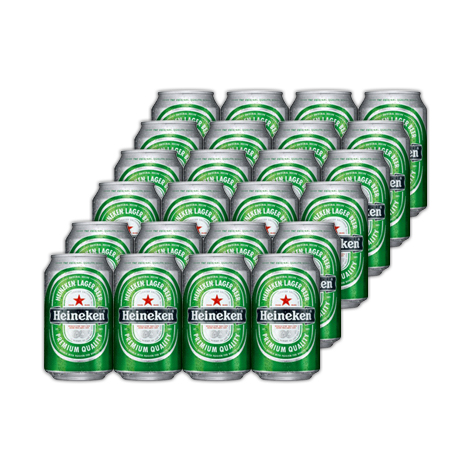 Heineken Beer (330ml) Can - 24 Cans per Case