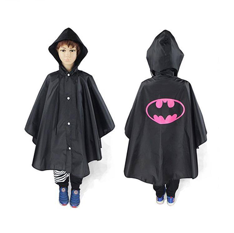 First Place Hero Raincoat Pink Bat Man