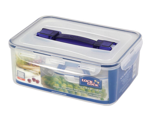 LOCK & LOCK Rectangular Tall Container W/Handle Tray 4.7L (HPL881)