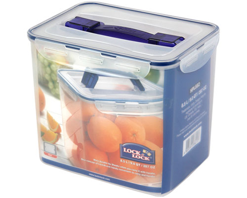 LOCK & LOCK RECTANGULAR TALL CONTAINER W/HANDLE TRAY 8.5L (HPL882)