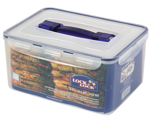 LOCK & LOCK Rectangular Tall Container W/Handle Tray 8.0L (HPL884)