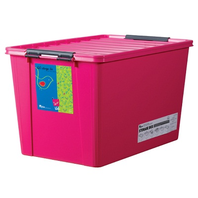 LOCK & LOCK Living Storage Easy Clip 60L (Blue/Green/Natural/Pink/Yellow) (INP113)