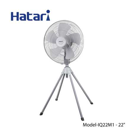 "Hatari Industrial Fan, Stand Fan Size 22"" Sliver Grey HC –I22M1 (OR) IQ22M1"