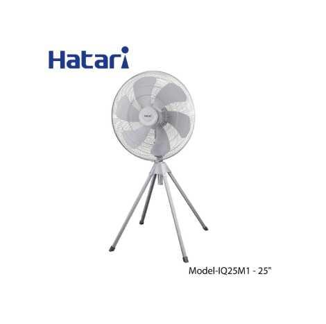 "Hatari Industrial Fan, Stand Fan Size 25"" Sliver Grey HF-I25M1 (OR) IQ25M1"