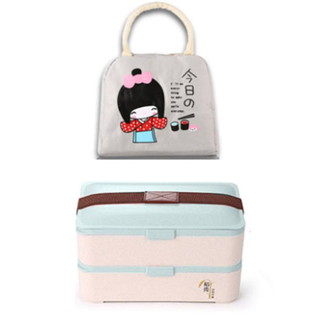 Japanese Lunch Box (Spoon+Chopstick+Bag) (J2152)