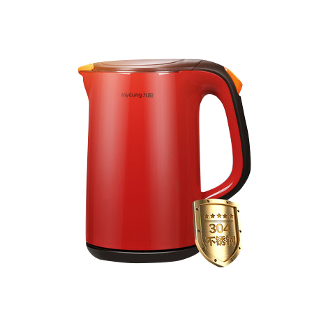 Joyoung Electric Automatic Power Off 304 Stainless Steel Kettle, 1.7 Liter Red (JYK-17F05A)