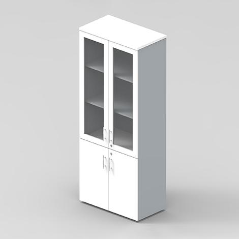 PRO PLUS Half Glass Door Cabinet with 5rooms 25mmshelf ( PVF‐HGWDF‐9045‐200 )