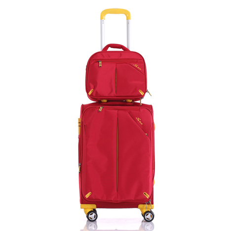 "Korean (12""+20""inch) Set Nylon 360 Degree Universal Wheel Travel Trolley Suitcase (P1007)"