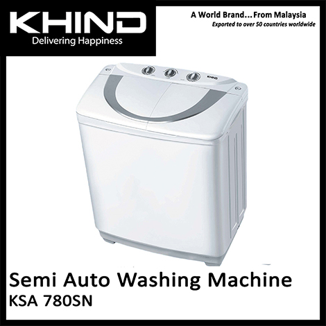 KHIND Semi Auto Washing Machine ( KSA 780SN )