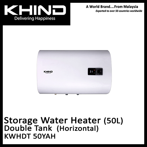 KHIND Slim Series Double Tank Horizontal Storage Water Heater ( KWHDT 50YAH )