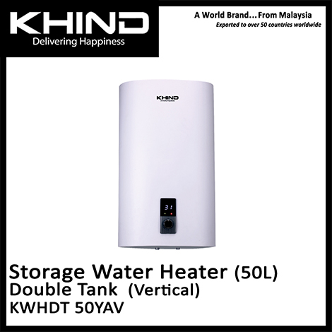 KHIND Slim Series Double Tank Vertical Storage Water Heater ( KWHDT 50YAV )