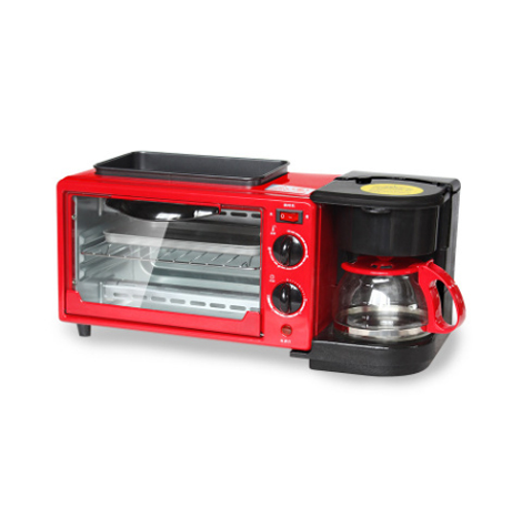 Automatic 3-in-1 Multi-function 9L Electric Breakfast Machine Baking Coffee Toaster (KZC-9L-K)