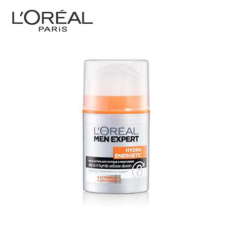 L'Oreal MEN HYDRA ENERGETIC MULTI ACTION 8 MOISTURISER 50 ML