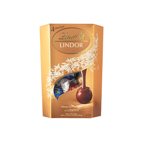 LINDT Lindor Assorted Swiss A Smooth Melting Filling Milk 200G ( 131303330103 )