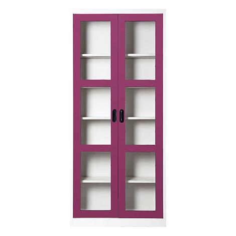 KIOSK Height Open Glass Door Cupboard with 5 Adjustable Shelves ( MAX-052 )