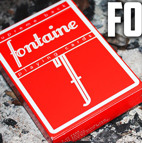 Fontaine Red Playing Card