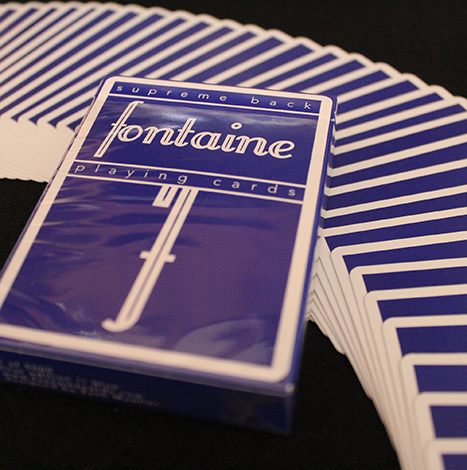 Fontaine Blue Playing Card