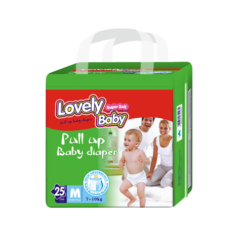 Lovely Baby Pull up baby diaper (M-25pcs) 7-10Kg
