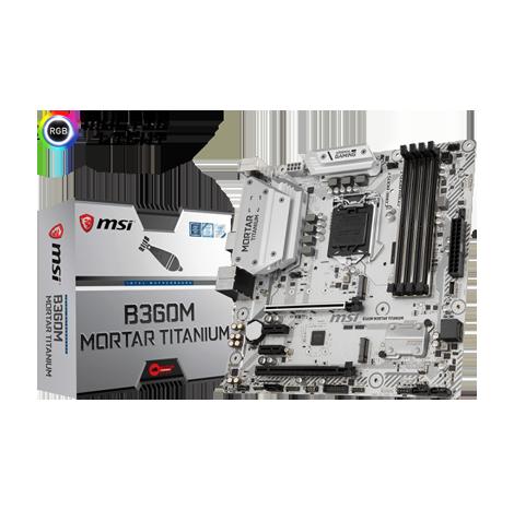 MSI B360M MORTAR TITANIUM Motherboard (Intel® B360 Chipset)