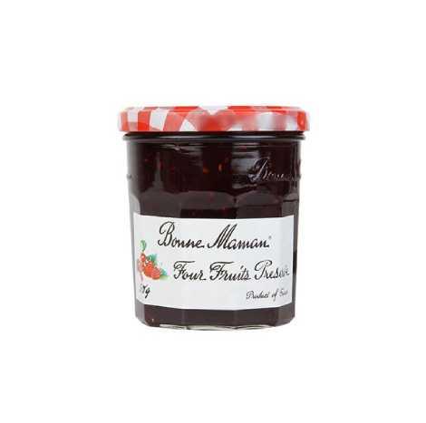 BONNE MAMAN 4 Fruits Preserves Jam 370G ( BM02013 )
