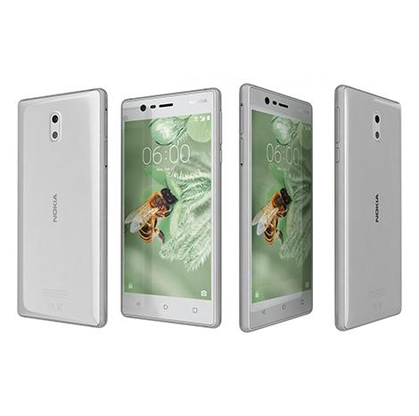 Nokia 3 Smart Phone (2GB, 16GB) Silver White