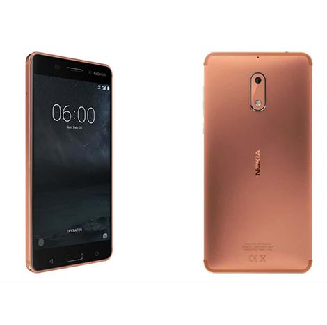 Nokia 6 Smart Phone (3GB, 32GB) Copper