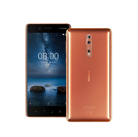 Nokia 8 Smart Phone (4GB , 64GB) Copper