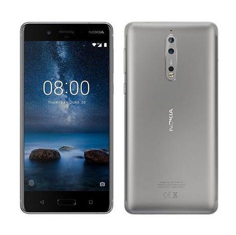Nokia 8 4GB/ 64GB Steel Smart Phone ( TA-1004 )