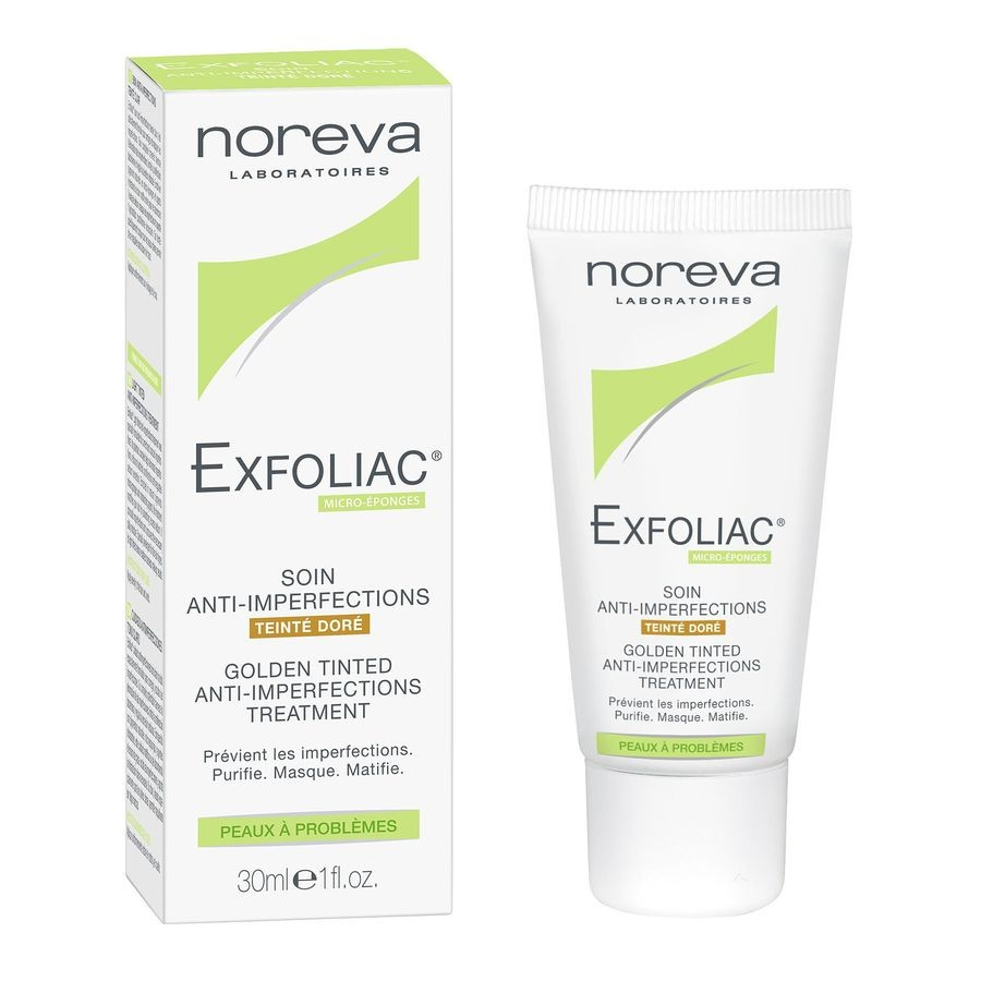 Noreva EXFOLIAC corrective treatment golden tinted 30ml