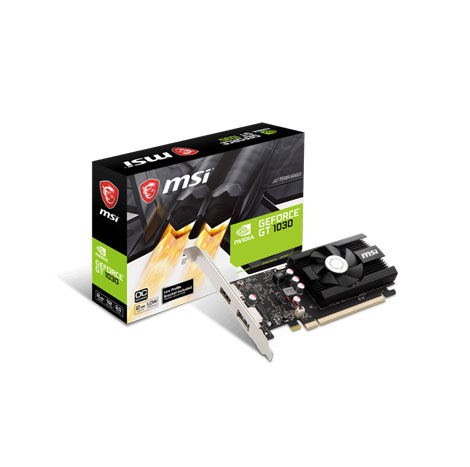 NVIDIA® GeForce GT 1030 2GD4 LP OC (PCI Express Gen 3) Military Class 4