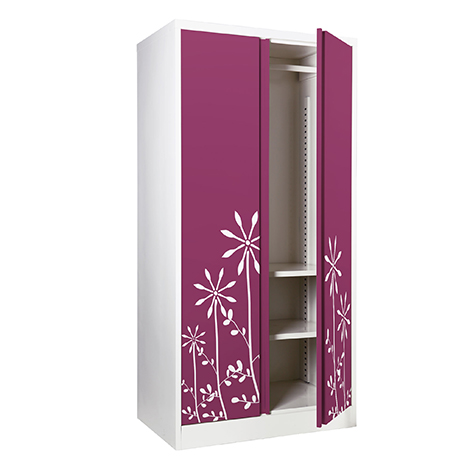 KIOSK Open Door Wardrobe with Graphic ( ODW-18/I )