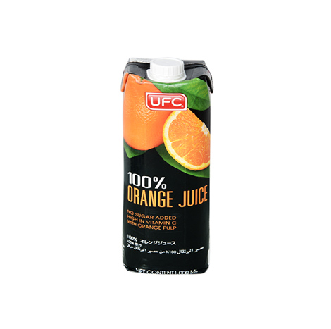 UFC 100% FRUIT JUICE ORANGE 1LTR