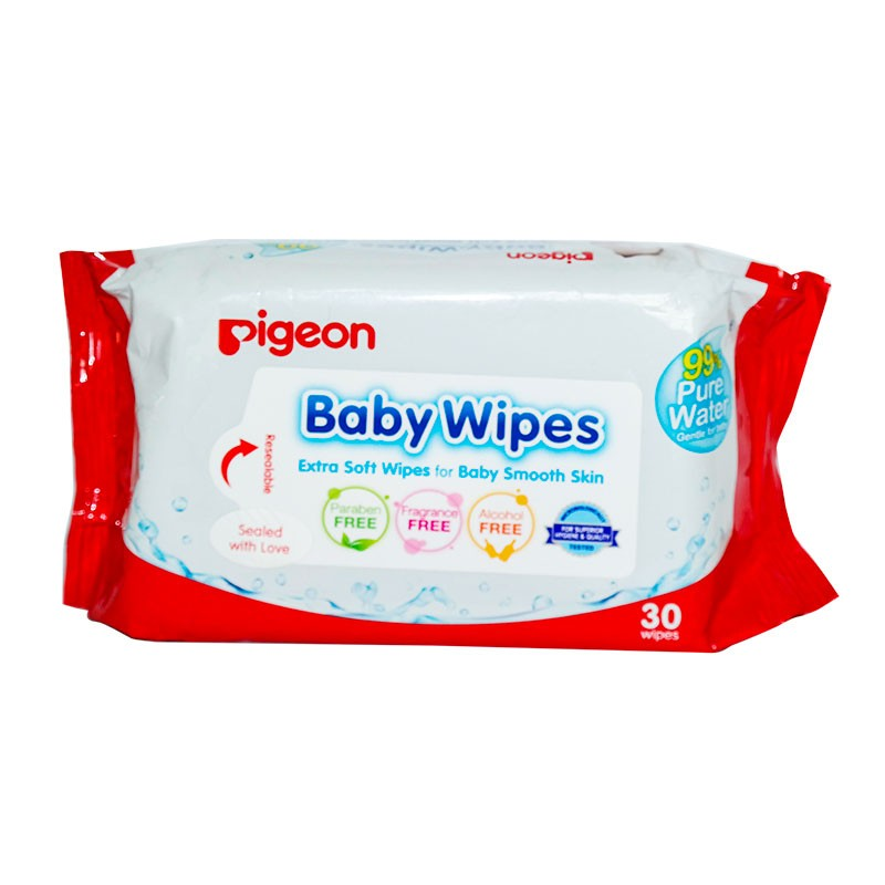 PIGEON Baby Wipes Extra Soft Wipes For Baby Smooth Skin 1X30 Wipes ( PSL-B015911 )