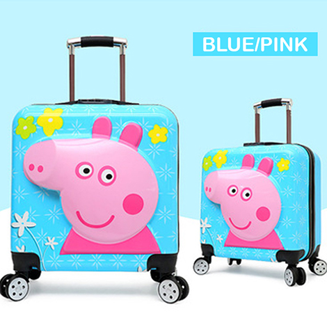 "PEPPA PIG 20"" Inch 3D Zipper Trolley Suitcase Luggage (PPTL3D)"