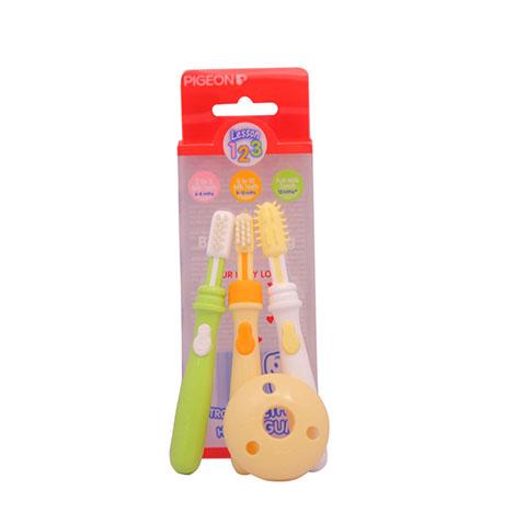 PIGEON Baby Training Toothbrush L-123SET NO.10892 ( PSL-1016675 )