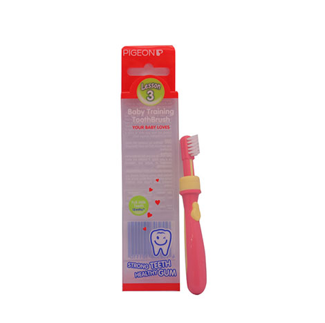 PIGEON Baby Training Toothbrush L-3 NO.10111(PINK) ( PSL-1016691 )