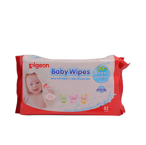 PIGEON Baby Wipes 99% Water 82`S NO.26168 ( PSL-B018779 )