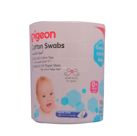 PIGEON Cotton Swabs Extra Thin 200`s No.10871 ( PSL-C013471 )