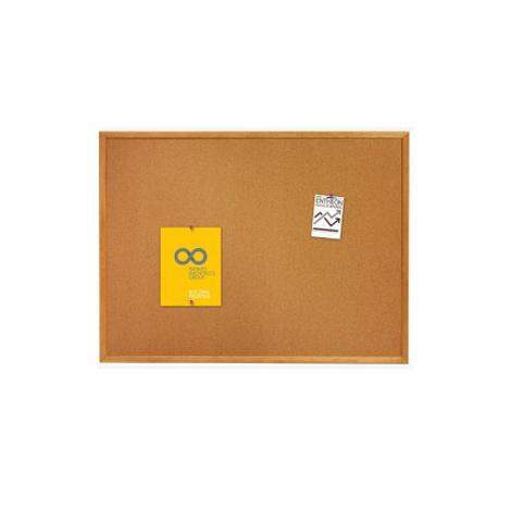 """Quartet Oak Cork Frame Board (35"""" x 23"""")"""