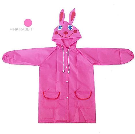 First Place Rain Coat Pink Rabbit