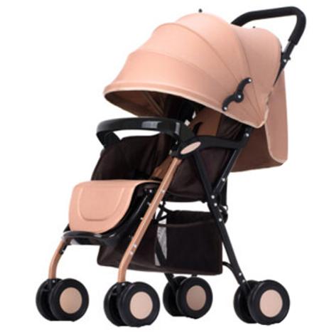 Ultra-Light Reclining Portable Foldable Six-Wheel Push Cart Baby Trolley Full Shade (A817-B2)