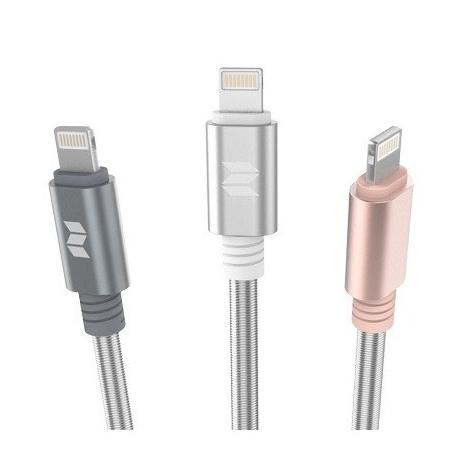 ROCK Metal Spring Lightning Cable L=100CM (04070026)