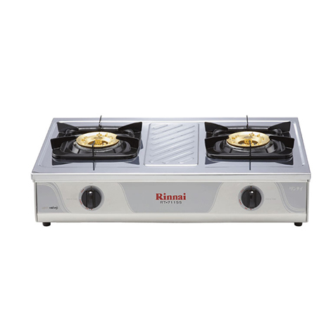 RINNAI Double Gas Cooker ( RT 711 SS )
