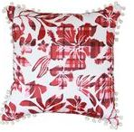 The Cushion Factory Red Flora Pillow Cover (SG-HPC034)
